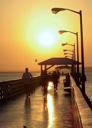 Sunrise on Ballast Point Pier in Tampa