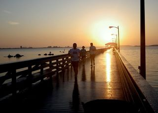 Ballast Point Pier, halfway point of our Bayshore run
