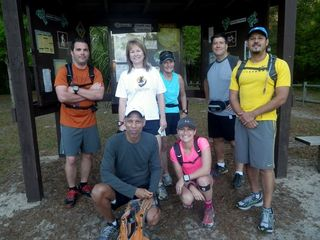Group photo just before Croom run: Jason Franks, Torami Williams, Diane Bennett, Elaine Martino, Jen Lanterman, Andres Valentin.