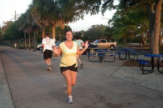 Michele Cerullo strings together several miles at a good pace as she trains for an upcoming half marathon.