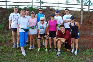 Run Tampa Group Run on Upper Tampa Bay Trail in April, 2011.